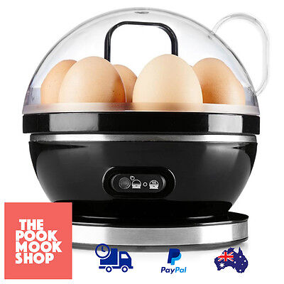 Egg Cooker Electric​ Black Automatic Round Steel Bowl Black Kitchen Steamer