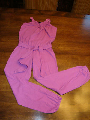 Girls Kids Gap Pink Fuchsia Knit Tank Sleeveless Romper Jumpsuit M Medium 8