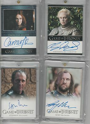 Game Of Thrones Season 3 Stephen Dillane Auto Full Bleed Autograph
