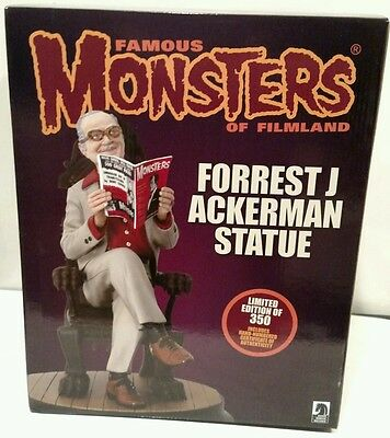 Famous Monsters Of Filmland Forrest (Forry) J Ackerman Statue Lmtd To 350 Piece