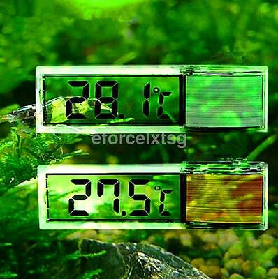 Aquarium Thermometer Fish Tank Temperature Gauge LCD Digital High Accuracy UK