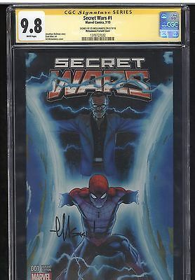 Secret Wars #1 Stan Lee Variant Signed By Ed Mcguinness CGC SS 9.8 Marvel Graded