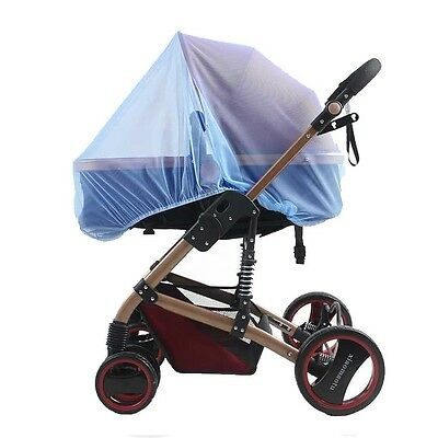 Universal Pram & Stroller BLUE Insect Mosquito Net Protect elastic dome cover