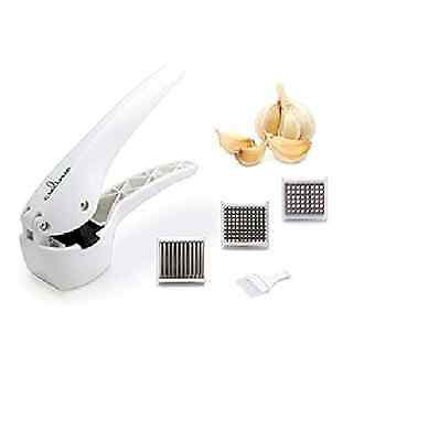 Culina Premium Garlic Press with 3 Interchangeable Heavy Duty Construction New
