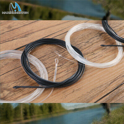 2PCS Fly Fishing Polyleader Black Sinking Line 7' Trout 10' Salmon 3ips 6ips
