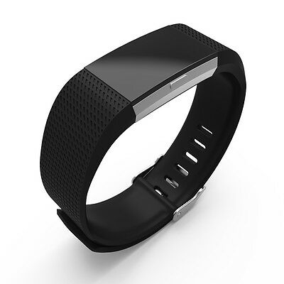 Replacement Sport Wrist Band With Classic Metal Watch Clasp for Fitbit Charge 2