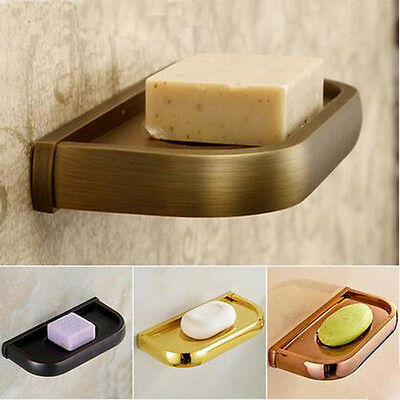 Wall Mouned Bath Kitchen Soap Dish Holder Brass Soap Stand Bathroom Accessories