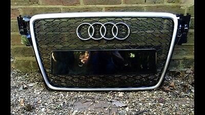 Audi A4 S4 S-Line Rs4 Style B8 Front Bumper Radiator Grille 2008-2012