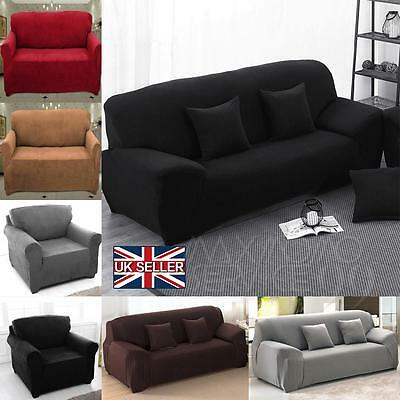 New Sofa Couch Slip Over Easy Fit Covers Elastic Fabric Stretch Settee Protector