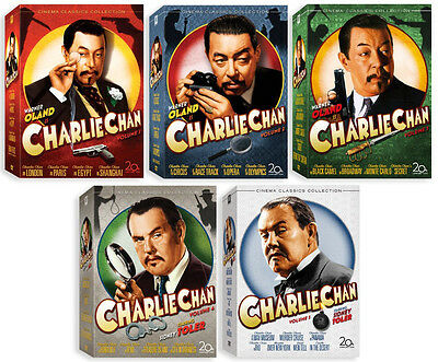 Charlie Chan Collection Complete . Volume 1 2 3 4 5 . Vol. 1-5 . 20 DVD . NEU