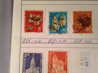 Club Approval Booklet Switzerland all used stamps Swiss  Pro Juventute / Patria