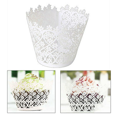 White Lace Cupcake Paper Wrapper Flower Wrap Case New Christmas Wedding Birthday