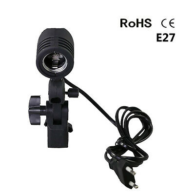 Photo Studio E27 Socket  Single Lamp Bulb Holder Adapter Photography Accessaries