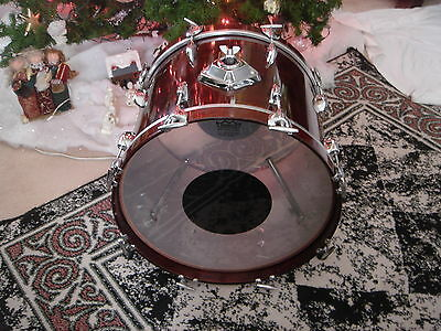 VINTAGE GRETSCH 80s WALNUT BOP 14/18 BASS DRUM....GREAT DRUM FOR YOUR R B KIT..