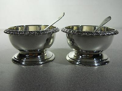 (2) Solid Sterling Silver - Condiment Bowl / Mustard Pot with CARTIER Spoon