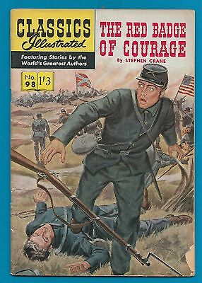 Classics Illustrated Comic Book # 98 The Red Badge of Courage  #464