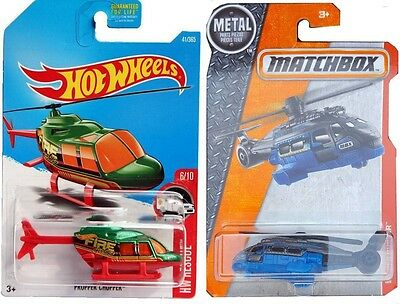 Matchbox Hot Wheels 2017 - Rescue HELICOPTER Proper Chopper Fire #41 Air Set The
