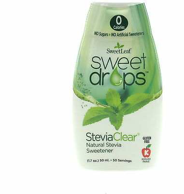 Sweet Drops Liquid Stevia, SweetLeaf, 1.7 oz Clear 1 pack