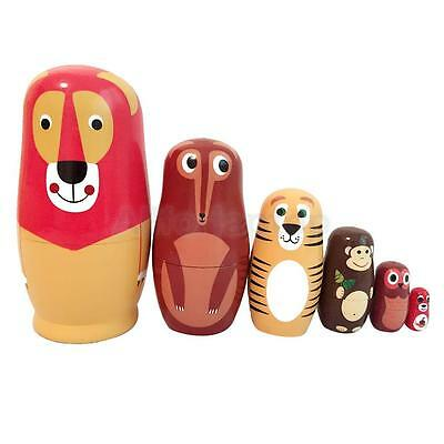 6× Matroschka Babuschka Matrjoschka Matruschka Matroyshka Holz Puppe 6 Tier