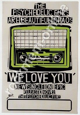 Psychedelic Furs We Love You Reproduction Poster