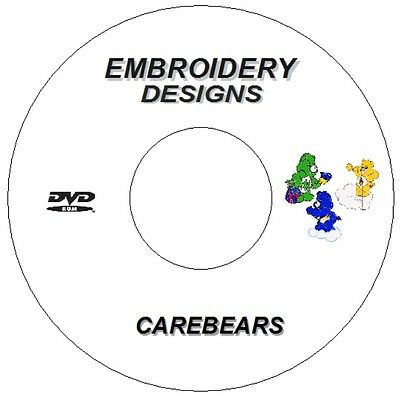 New Embroidery Machine Designs Pes Cd Dvd Carebears Brother Signer Janome