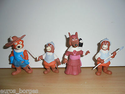 DOGTANIAN AND THE THREE MUSKEHOUNDS 4 PVC FIGURES Startoys 80's