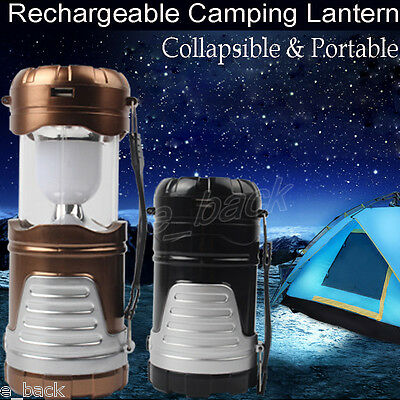 Rechargeable Solar Outdoor Camping Lantern Light LED Hand Lamp Torch Light UK