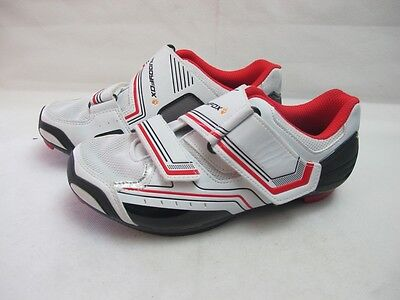 Womens Muddyfox RBS 100 Cycling White Red Cycle Bike Shoes Uk 5 EUR 38