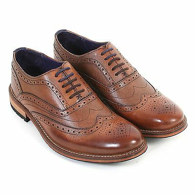Ted Baker Men's Guri 8 Formal Leather Lace Up Brogue Tan