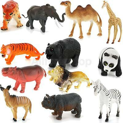 12pcs Waldtiere Set Figur Wild Animals Model Tierfiguren Tier Modell Spielzeug