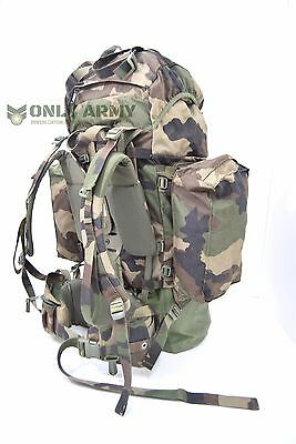 French Army 120Lt Rucksack Cce Camo Bergen Backpack Expedition Pack Adjustable