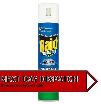 Raid Fly, Wasp & Mosquito Killer Spray 300ml Fresh Scent - Kills in Seconds
