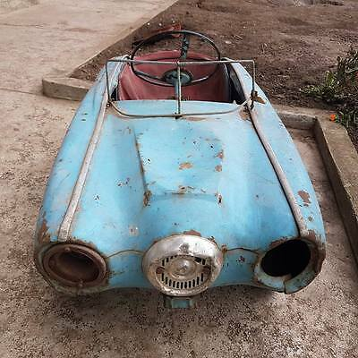 antique Vintage SOVIET USSR Metal Pedal CAR MOSKVICH. WOW MEGA RARE...