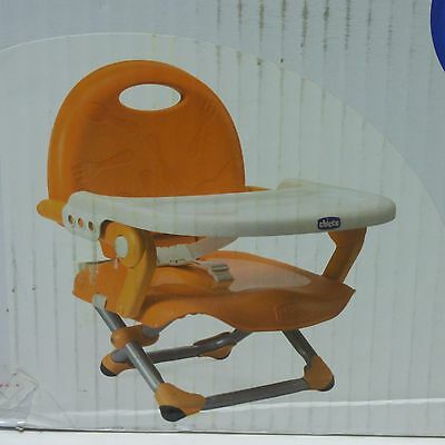 Chicco Pocket Snack Baby Chair Booster Lunch Seat- Mandarino.