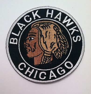 "Chicago Blackhawks Vintage RARE CLASSIC Embroidered Iron On Patch 3"" x 3"" NHL"