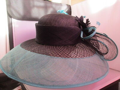 Wedding/ascot  Awesome Jaques Vert Designed Hat. Very Very Wide Size-M