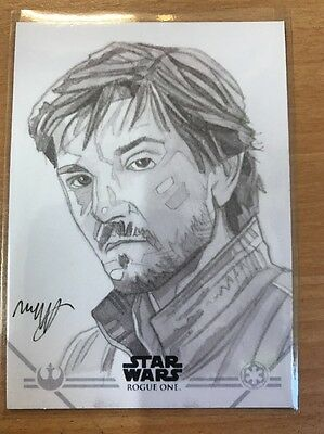 Star Wars Rogue One Series 1 Sketch Card By Robert Hendrickson