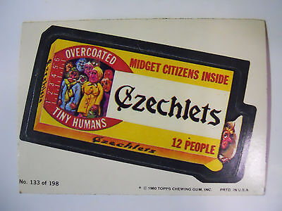 VINTAGE! 1980 Topps Wacky Packages Trading Card #133-Czechlets-Chiclets