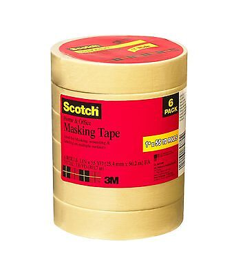 Scotch Home and Office Masking Tape 1-Inch x 55 Yards 6 Rolls (3437-... [NO VAT]