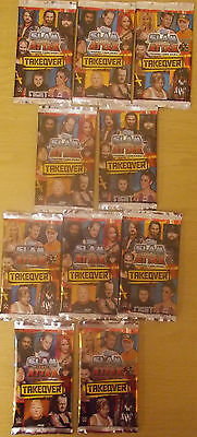 WWE Slam Attax Takeover NXT ~ 10 x Sealed Packs Trading Cards = 80 Cards