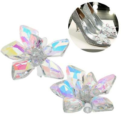 Bridal Wedding Rhinestone Crescent Boots Shoe Clip Accessory Jewelry Pair