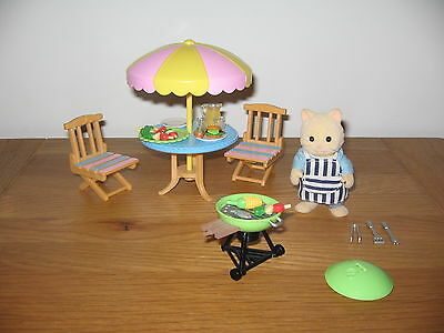 Sylvanian Families Garden Barbecue set with Maurice Chantilly cat & accessories