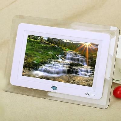 7'' HD TFT-LCD Digital Photo Frame Clock MP3 MP4 Movie Playe Remote Desktop US