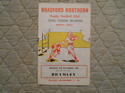 Bradford Northern V Bramley Rugby League Match Programme 1960