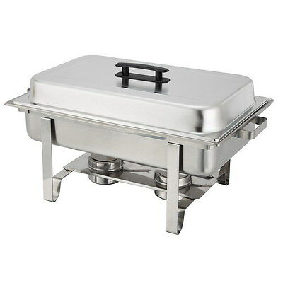 Winco Newburgh Economy Full Size Stainless Steel Chafer, 8 qt. | 1 Each