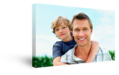 24x36 Inch Personalised Fathers Day Photo Canvas Print Wall Art FREE UK DELIVERY