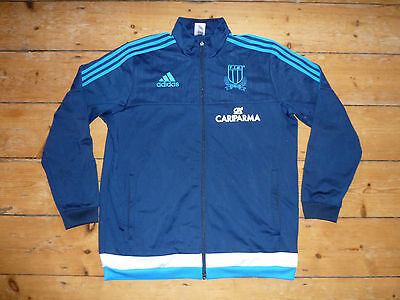 ITALY Rugby Jersey XL Adidas Rugby Tracktop Trikot Maroc Maillot Domicile Maglia