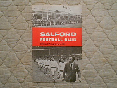 Salford V Huddersfield Rugby League Cup 2Nd Round Replay Match Programme 1970