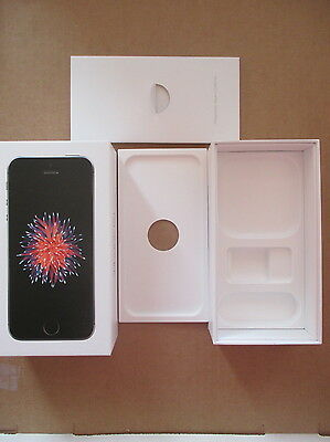 iPhone SE Box Only 16GB Space Gray w Inserts and Stickers NO Phone MLLY2LL/A
