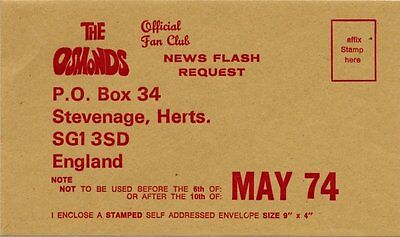 Osmonds The Official Fan Club Envelope May 1974